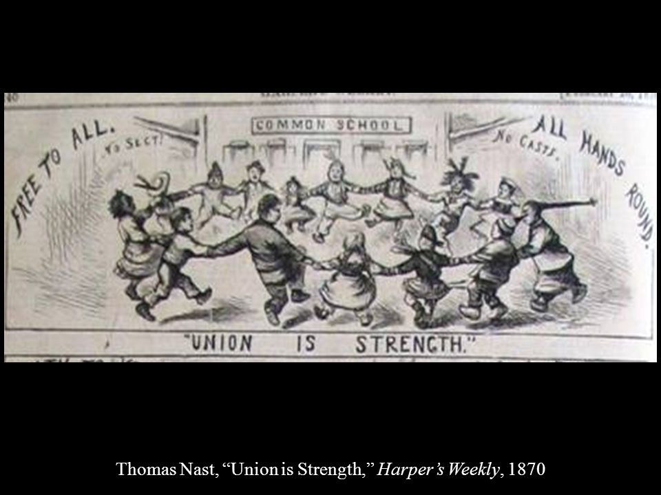 Thomas Nast, Union is Strength, Harper's Weekly, 1870