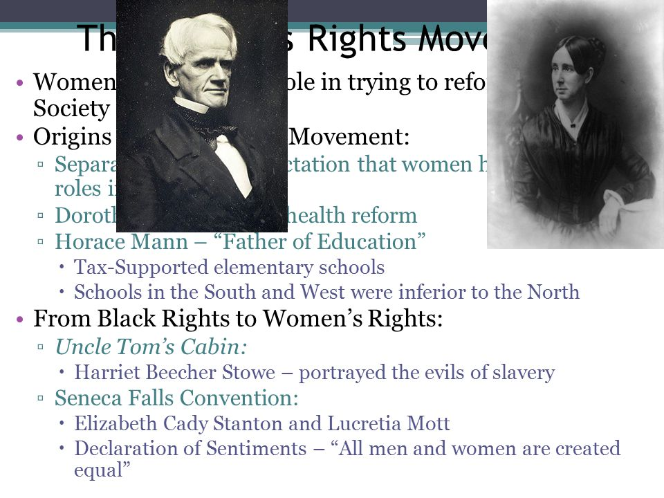 Quick Review Transcendentalism Henry David Thoreau Minstrel Shows Nativism Nat Turner's Rebellion William Lloyd Garrison Abolitionist Movement split over women's rights Dorothea Dix Seneca Falls Convention