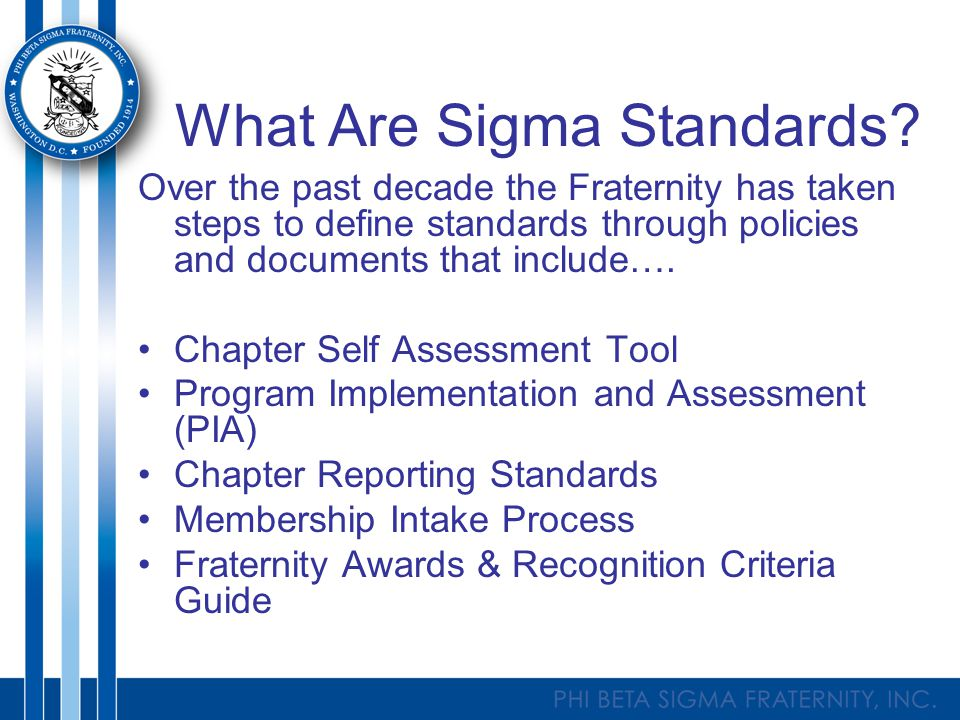 What Are Sigma Standards.