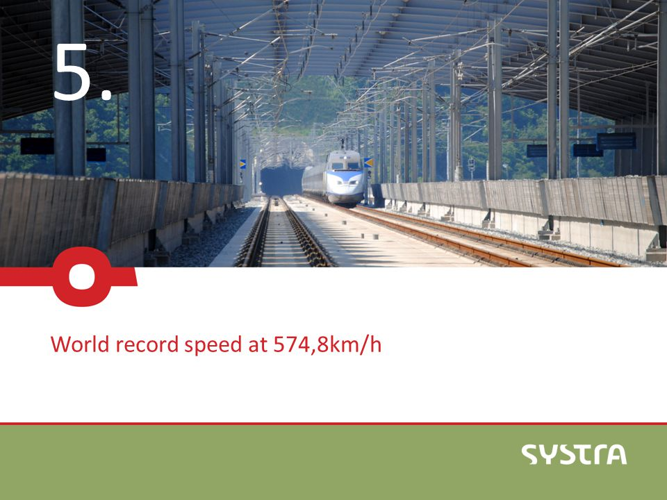 5. World record speed at 574,8km/h