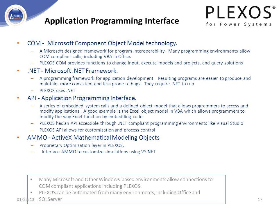 COM - Microsoft Component Object Model technology. – A Microsoft designed framework for program interoperability. Many programming environments allow