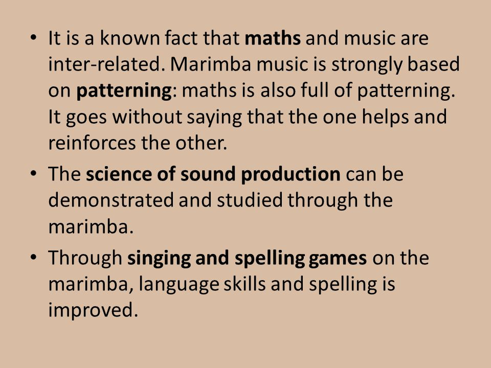 It is a known fact that maths and music are inter-related.