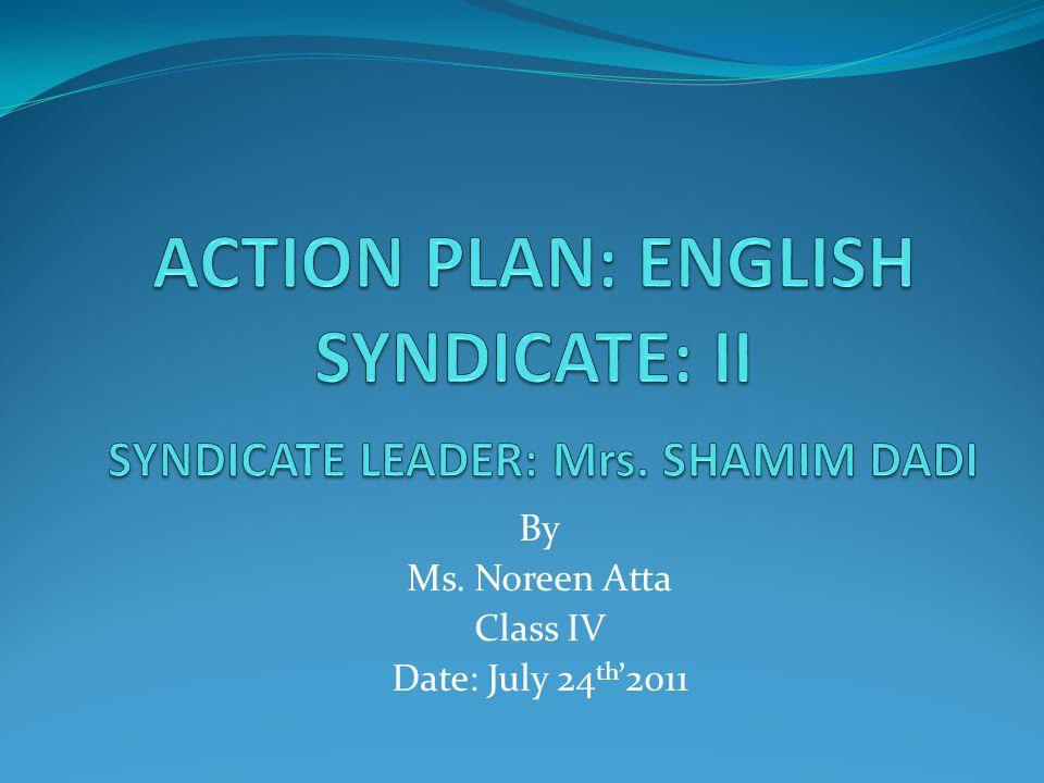 Name: Noreen Atta Subject: English Unit: 4.1 pg: 21 Book: Grammar Skills– 4 Topic: Prepositions Class: Syndicate II No.