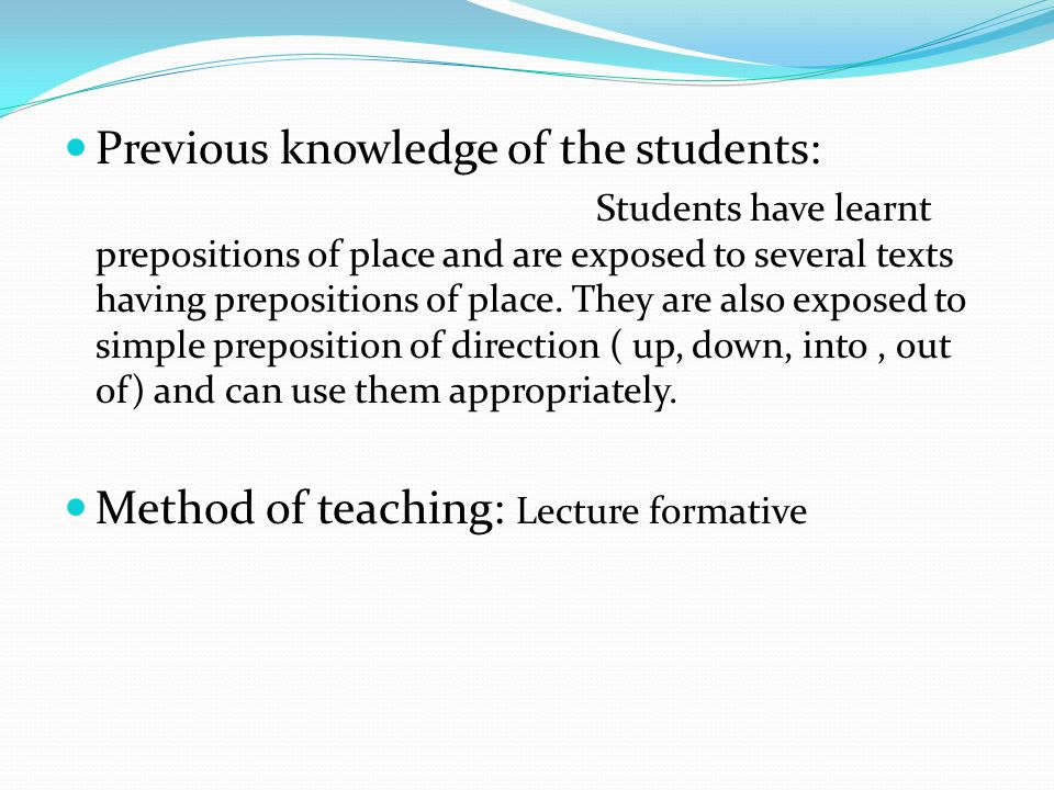 To familiarize the students with correct usage of grammar.