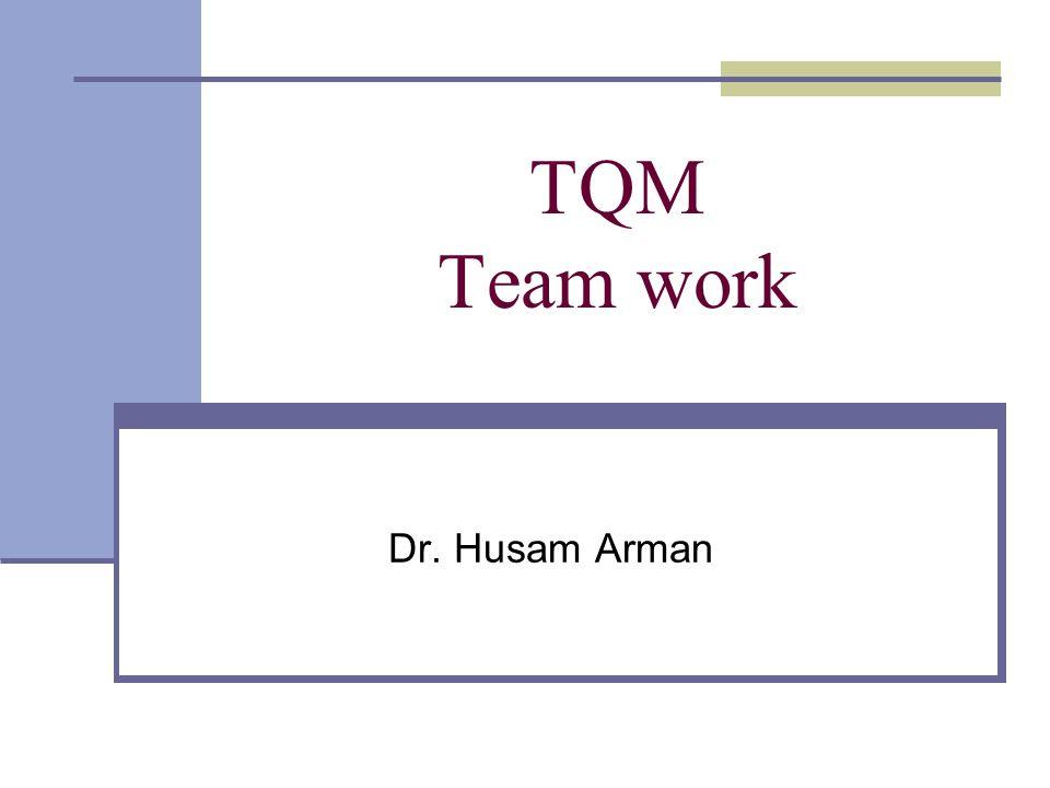 TQM Team work Dr. Husam Arman