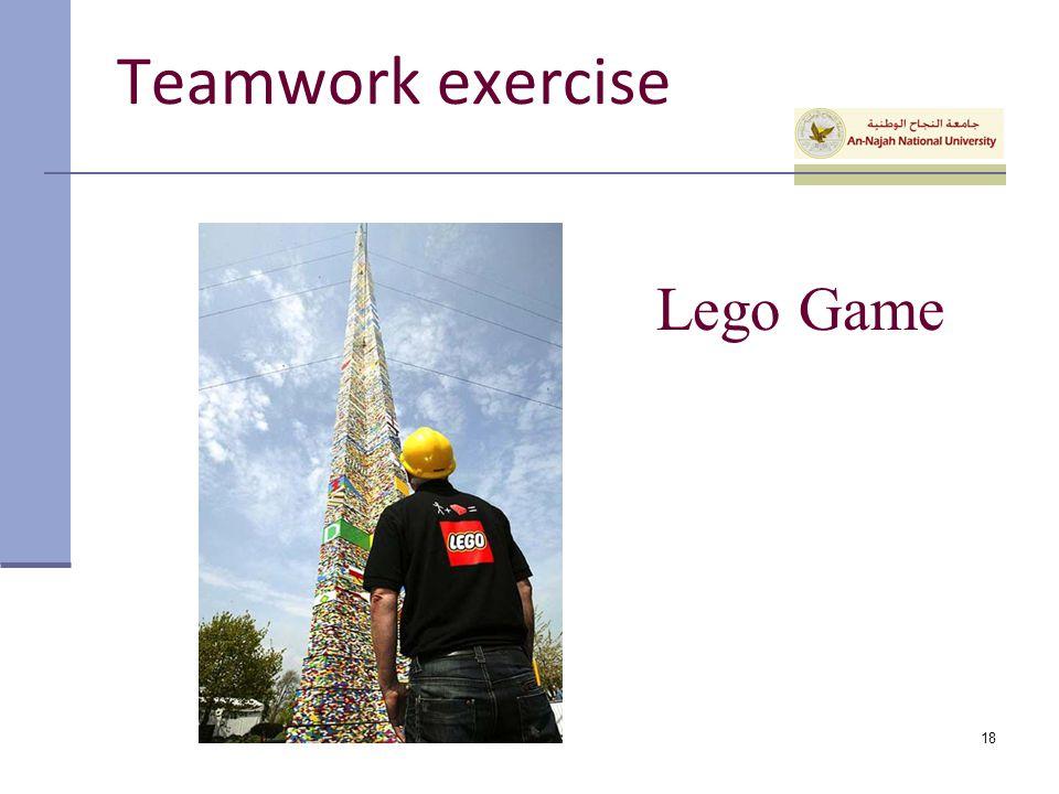Lego Game 18 Teamwork exercise
