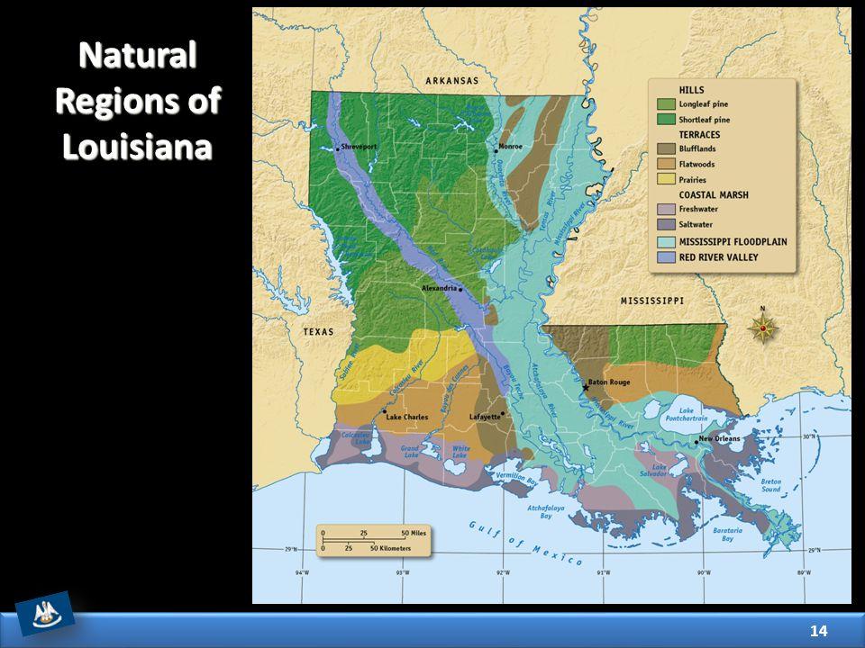 14 Natural Regions of Louisiana