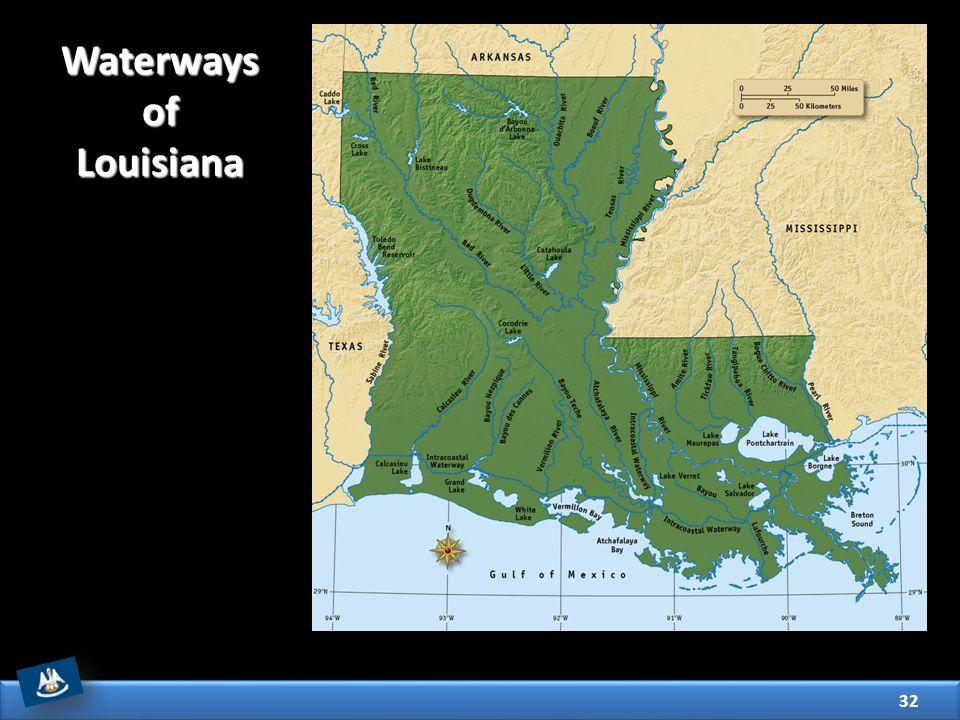 32 Waterways of Louisiana