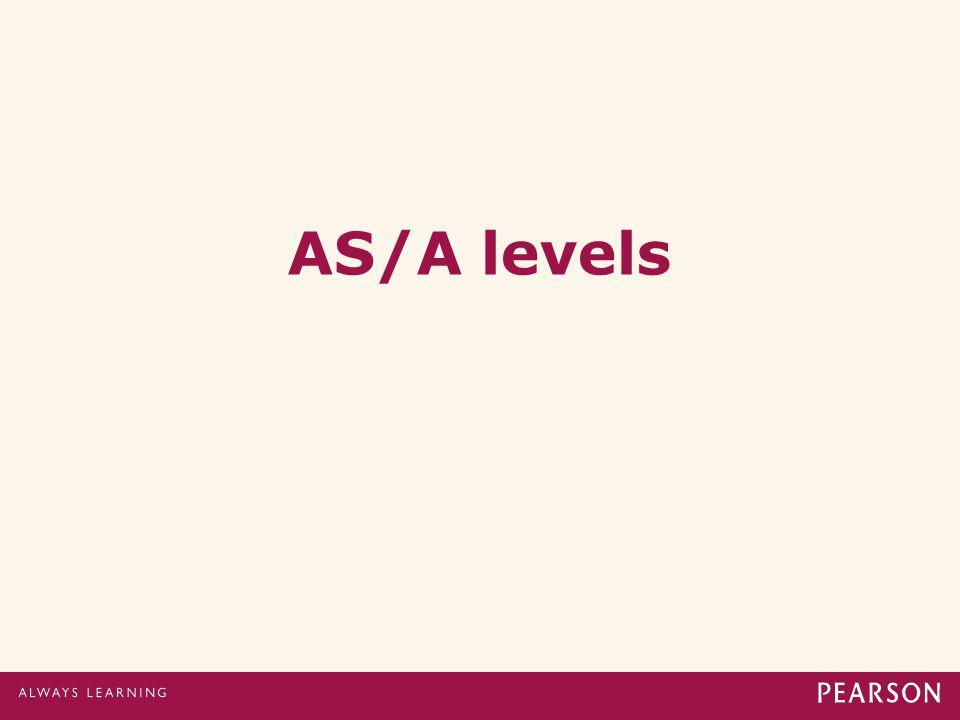 AS/A levels