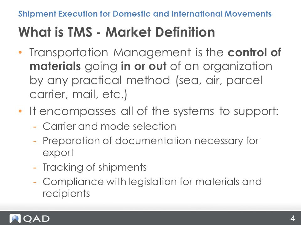 25 Get control tower visibility and management −Shipments in-transit −Inbound shipment and returns −Automated alerts −Pro-active exception management and communication −Automated proof-of-delivery −Reporting PEM: Delivering Value Shipment Execution for Domestic and International Movements Carrier A Carrier B Carrier C Carrier D