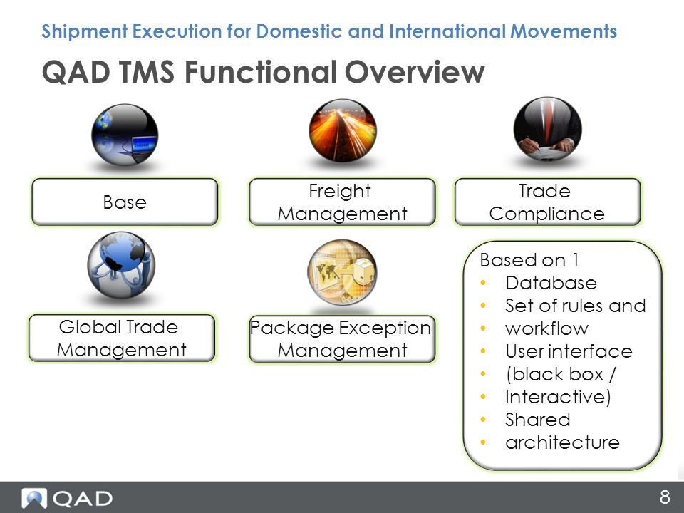 9 User experience Streamlining -Carrier on boarding of express carriers -ERP/ WMS integration Business intelligence On Demand/ SAS Key Initiatives Shipment Execution for Domestic and International Movements