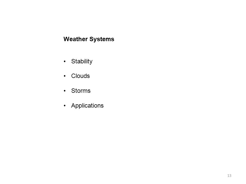 Weather Systems Stability Clouds Storms Applications 13