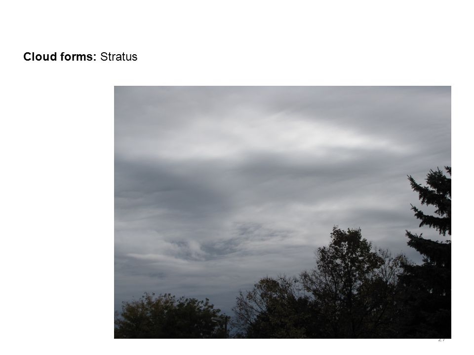 Cloud forms: Stratus 27