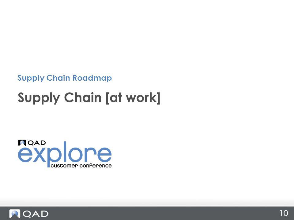 10 Supply Chain [at work] Supply Chain Roadmap