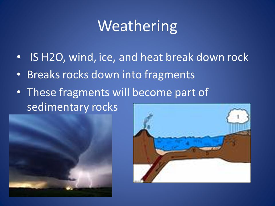 Erosion Sediment is removed from its source This is caused by H2O, wind, ice, + gravity