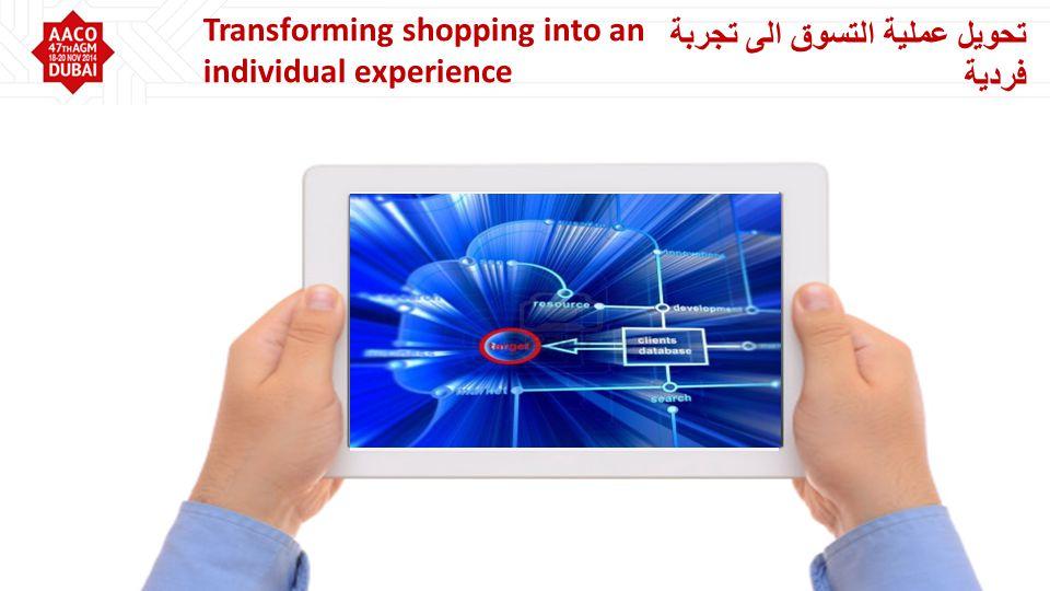 تحويل عملية التسوق الى تجربة فردية Transforming shopping into an individual experience