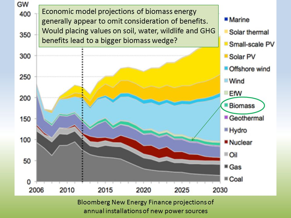 Economic model projections of biomass energy generally appear to omit consideration of benefits.