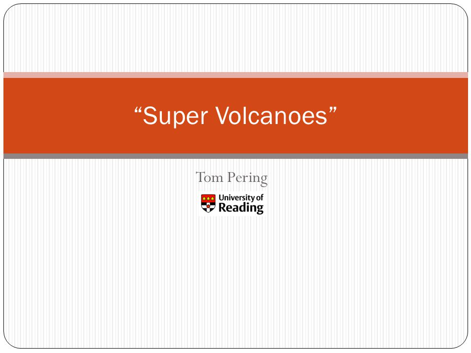 Tom Pering Super Volcanoes