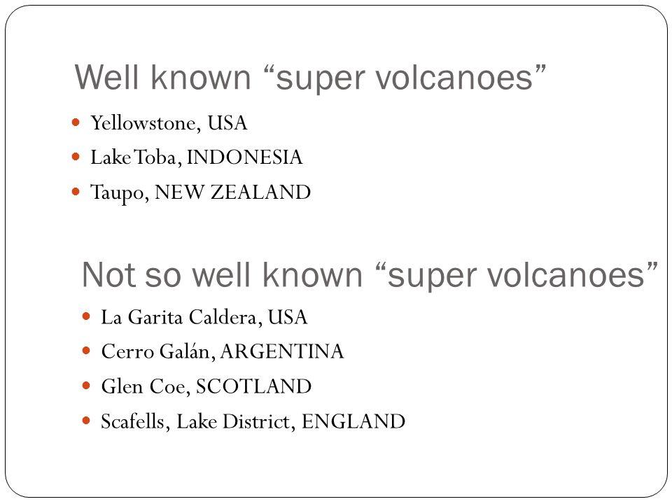 Glen Coe, Scotland Last eruption 420 million years ago Silurian (Paleozoic Era) 5 eruptions Roughly 500,000 years apart.