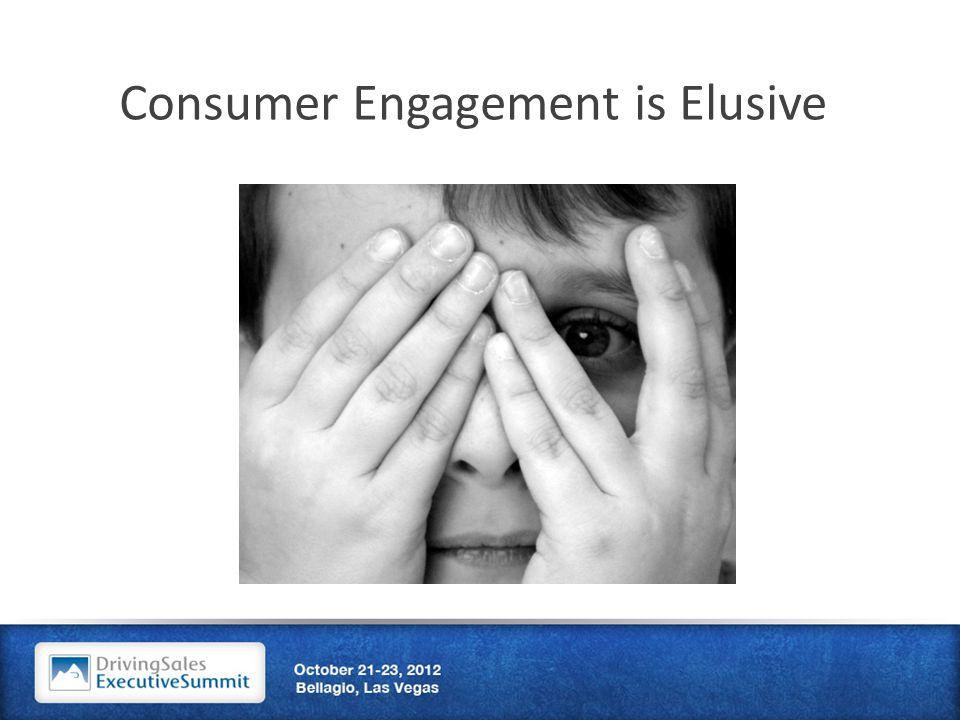 Consumer Engagement is Elusive