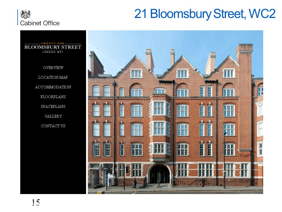 21 Bloomsbury Street, WC2 15 UNCLASSIFIED