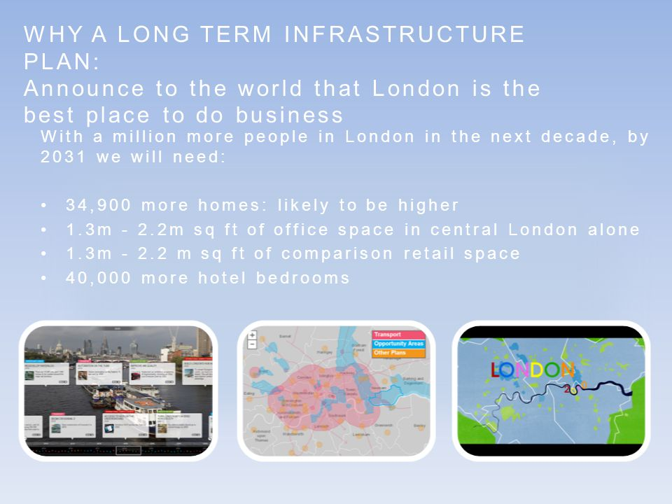 WHY A LONG TERM INFRASTRUCTURE PLAN: significant economic opportunity but ferocious competition