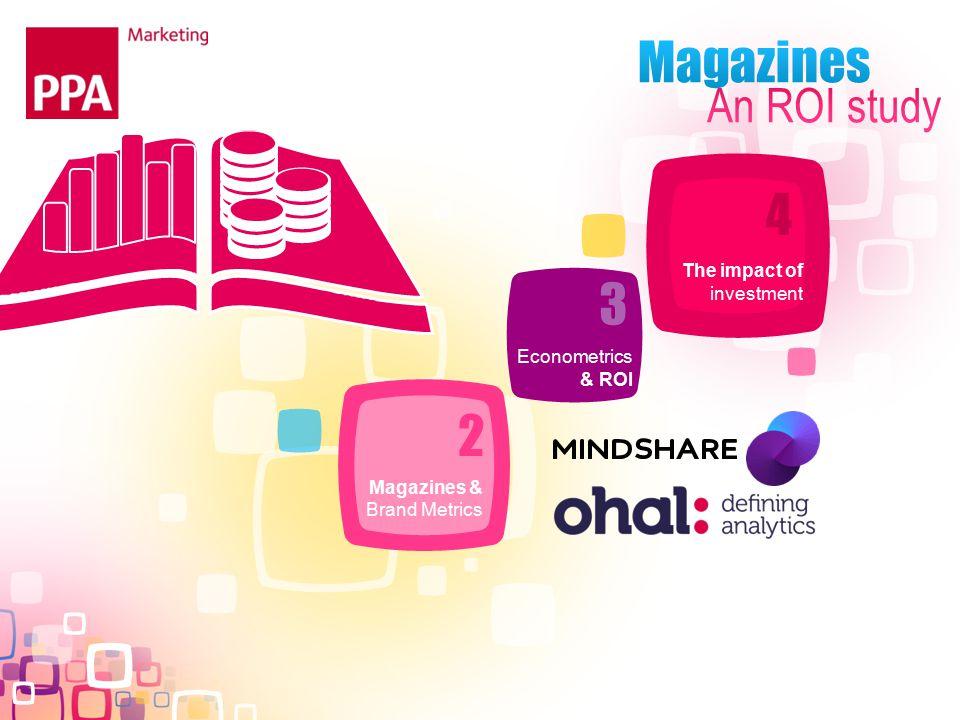 Magazines & Brand Metrics The impact of investment Econometrics & ROI 2 3 4