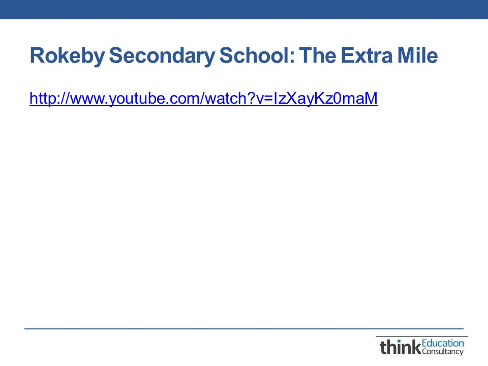 Rokeby Secondary School: The Extra Mile http://www.youtube.com/watch?v=IzXayKz0maM