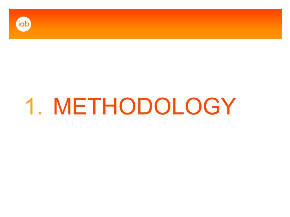 1. METHODOLOGY