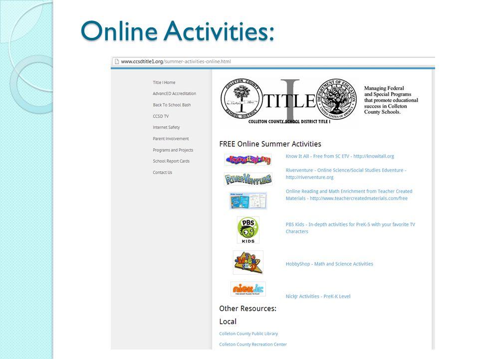 Online Activities: