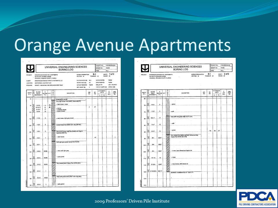 Orange Avenue Apartments 2009 Professors Driven Pile Institute