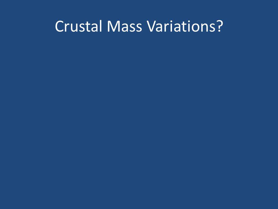 Crustal Mass Variations?