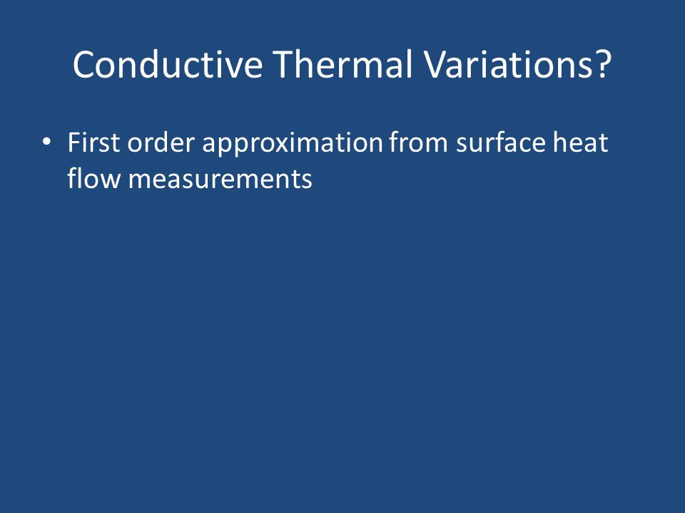 First order approximation from surface heat flow measurements
