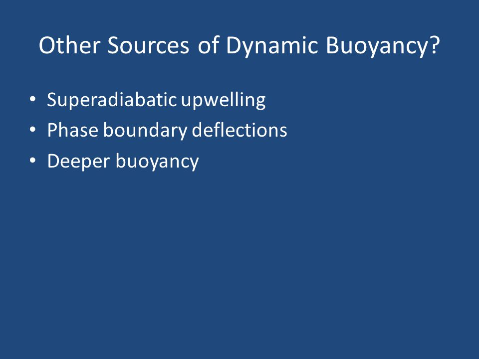 Other Sources of Dynamic Buoyancy.