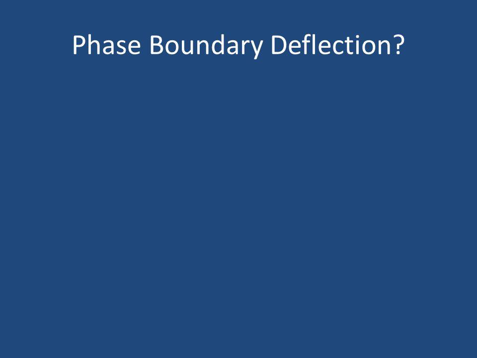Phase Boundary Deflection?