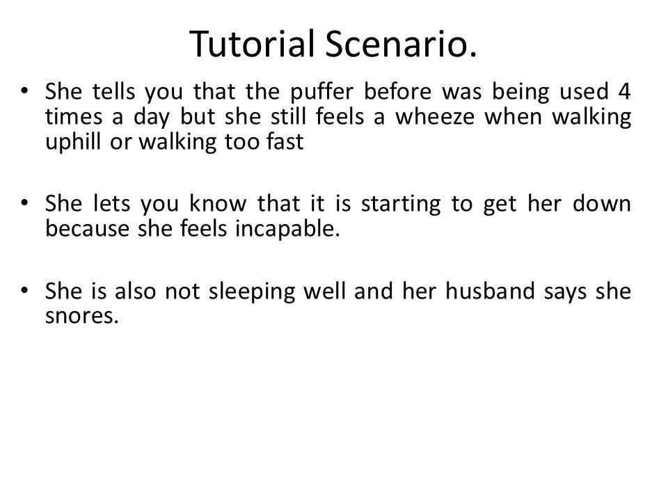 Tutorial Scenario.