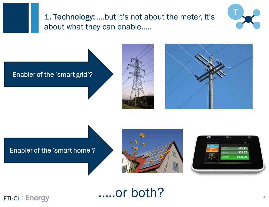 1. Technology:....but it's not about the meter, it's about what they can enable.....