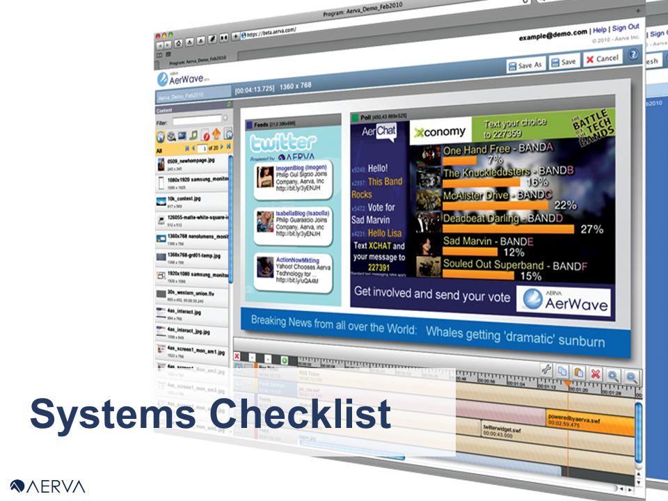 Systems Checklist
