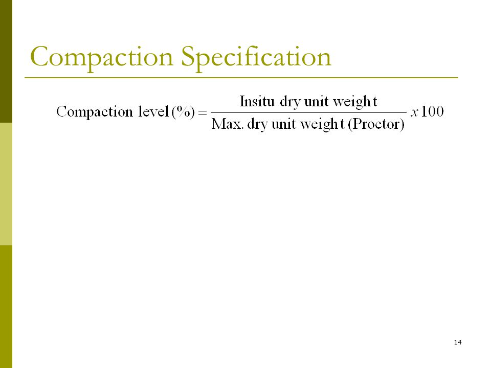 Compaction Specification 14