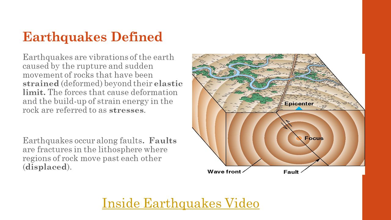 21 The focus is the point on the fault where rupture occurs and the location from which seismic waves are released.