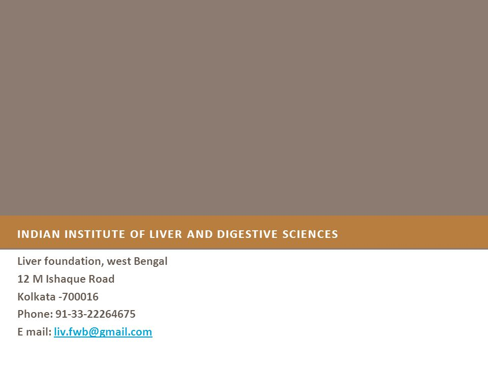 I NDIAN I NSTITUTE OF L IVER AND D IGESTIVE S CIENCES IIDLS a Centre of Excellence IIDLS will be the first Centre of Excellence for Treatment, Research and Education in Liver & Digestive System in Eastern India.