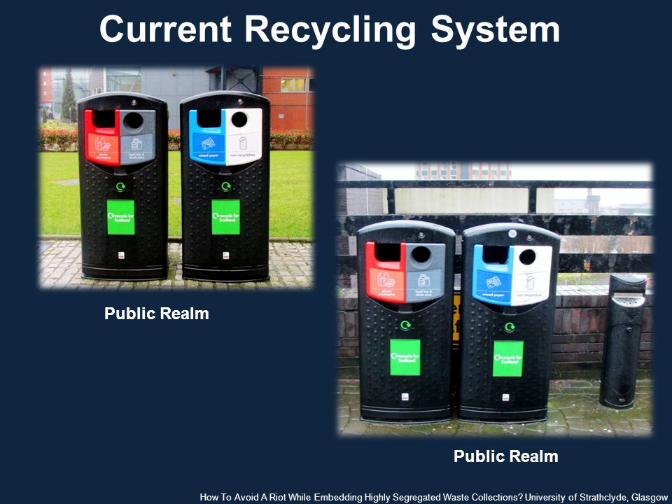 Current Recycling System Public Realm How To Avoid A Riot While Embedding Highly Segregated Waste Collections.