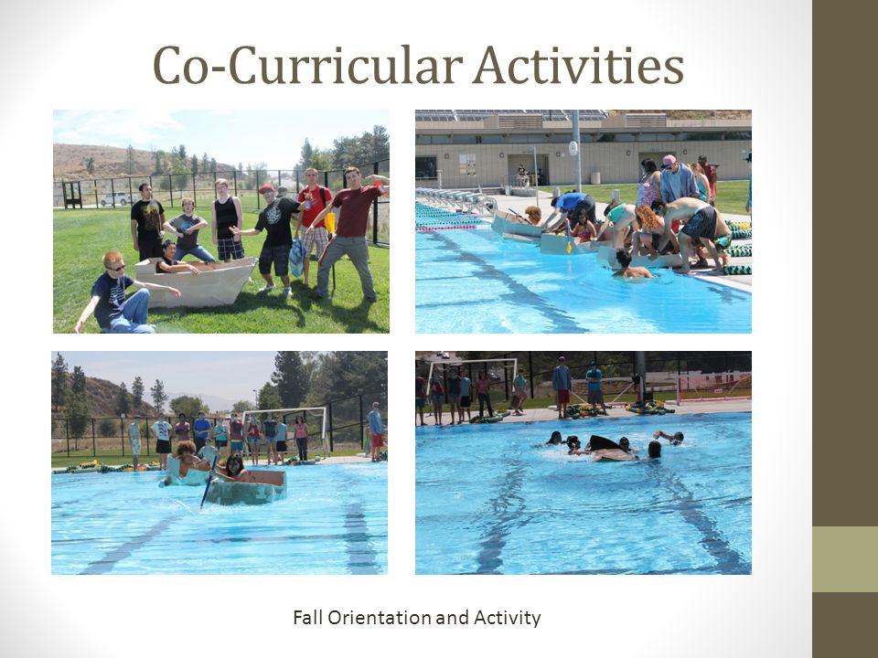 Co-Curricular Activities Fall Orientation and Activity