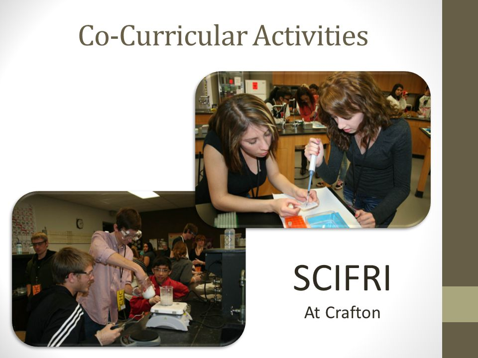 Co-Curricular Activities SCIFRI At Crafton