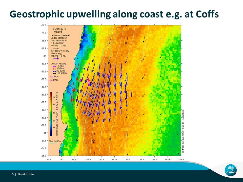 Persistent northward flow on shelf JB-Syd for 6 weeks David Griffin 16 |