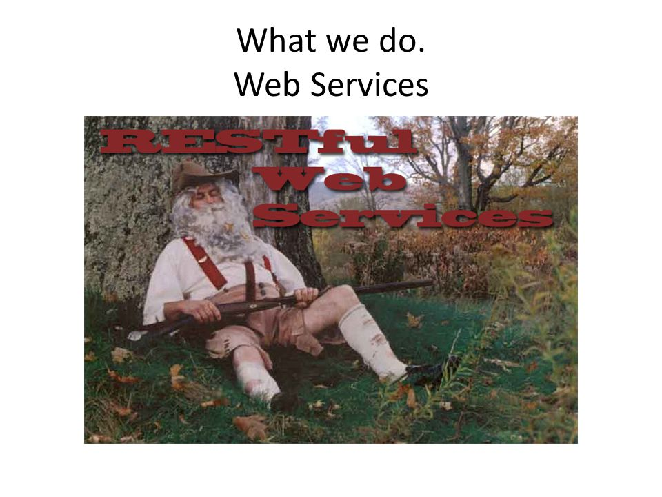 What we do. Web Services