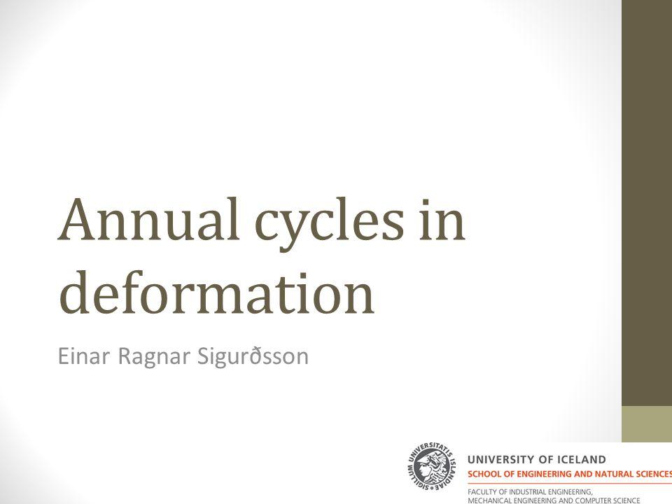 Annual cycles in deformation Einar Ragnar Sigurðsson