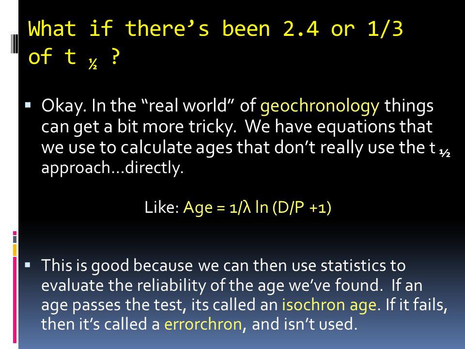 Radiometric Dating: Half-Life