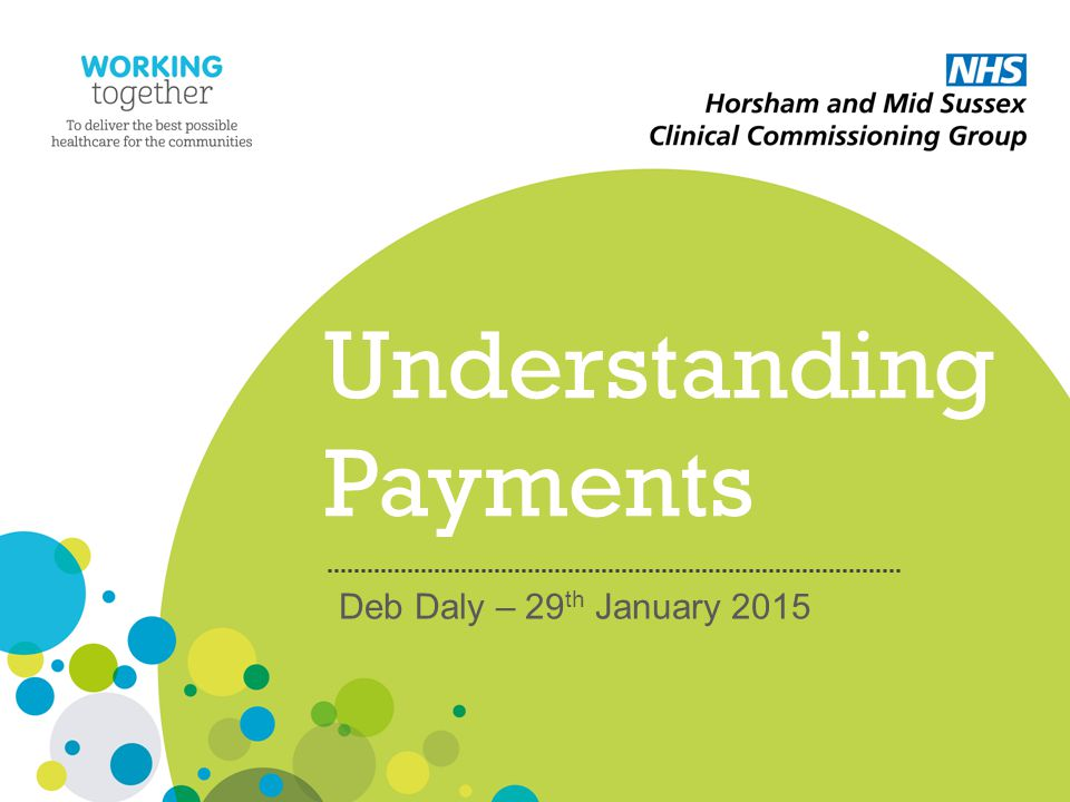 Understanding Payments Deb Daly – 29 th January 2015