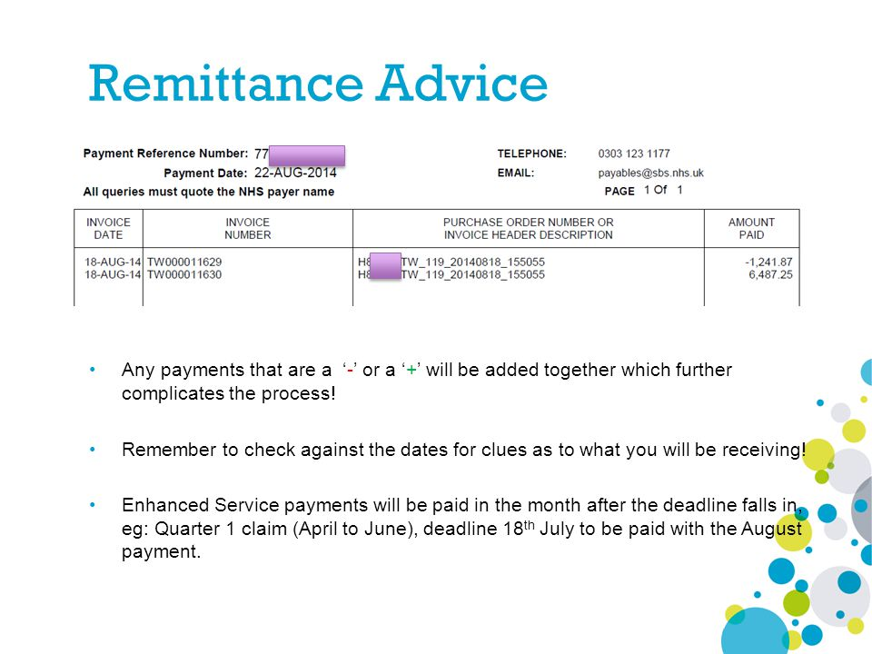 Any payments that are a '-' or a '+' will be added together which further complicates the process! Remember to check against the dates for clues as to